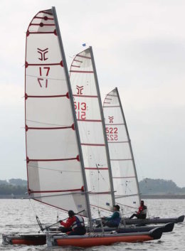 catapult catamarans start at carsington