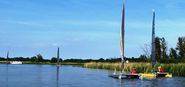 cataqpults sailing broads
