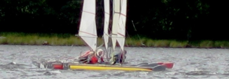 catapult catamaran racing at bala