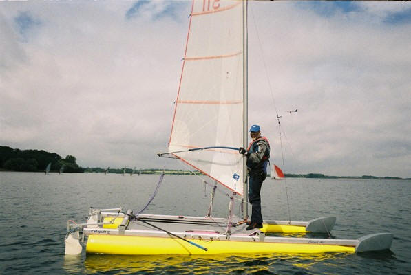 catamaran racing in light:Stuart